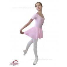 Short sleeve leotard with the skirt - A 0010