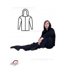 Rehearsal cardigan with hood - B 0005