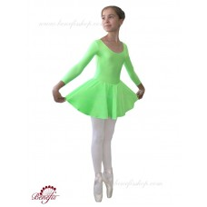 Long sleeve leotard with the skirt - A 0007