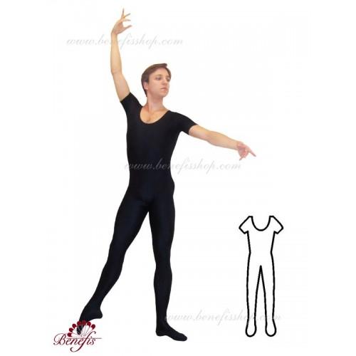 Footed short sleeve unitard - C 0004